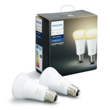 2er SET -  LED dimmbare Glühbirne Philips HUE WHITE AMBIANCE E27/9,5W/230V