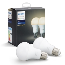 2er SET -  LED dimmbare Glühbirnen Philips HUE WHITE E27/9W/230V