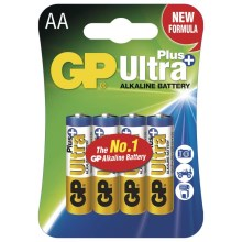 4 Stk. alkalische Batterien AA GP ULTRA PLUS 1,5V