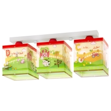 Dalber 64403 - Kinder-Wandleuchte MY LITTLE FARM 3xE27/60W/230V