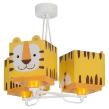 Dalber 64567 - Kinderleuchte LITTLE TIGER 3xE27/60W/230V
