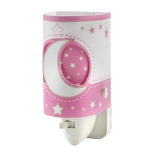 DALBER D-63235LS - LED-Steckdosenlampe PINK MOON LED/0,5W