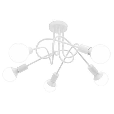 Deckenleuchte OXFORD 5xE27/60W/230V weiß