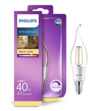 dimmbare LED Glühbirne Philips BA38 E14/5W/230V 2700K