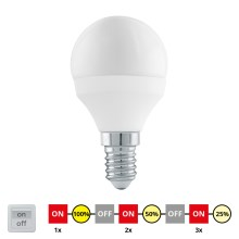 EGLO 11584 - LED Zyklisch dimmbare Glühbirne E14/6W/230V - STEPDIMMING neutral