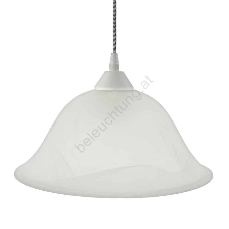 Eglo 93603 Lampenschirm Alabasterglas Weiss E27 Durchmesser 30 Cm