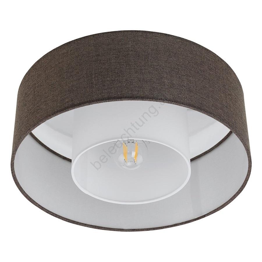 eglo 96723 deckenleuchte fontao 1xe27 60w 230v braun beleuchtung. Black Bedroom Furniture Sets. Home Design Ideas