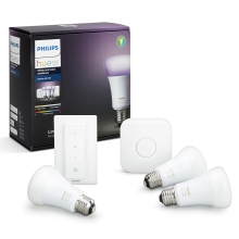 Grundset Philips HUE WHITE AND COLOR AMBIANCE 3xE27/10W/230V