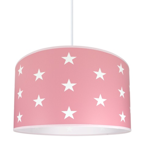 Kinderzimmerleuchte STARS PINK 1xE27/60W/230V