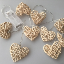 LED dekorative Kette RATTAN HEART LED/2xAA