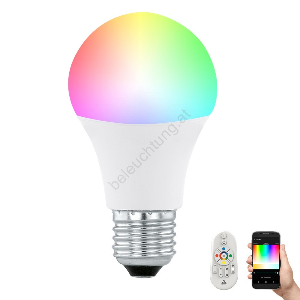 LED Dimmbare Glühlampe CONNECT E27/9W + Fernbedienung - Eglo 11585 ...