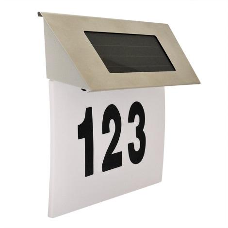 LED Solarhausnummer 1,2V IP44