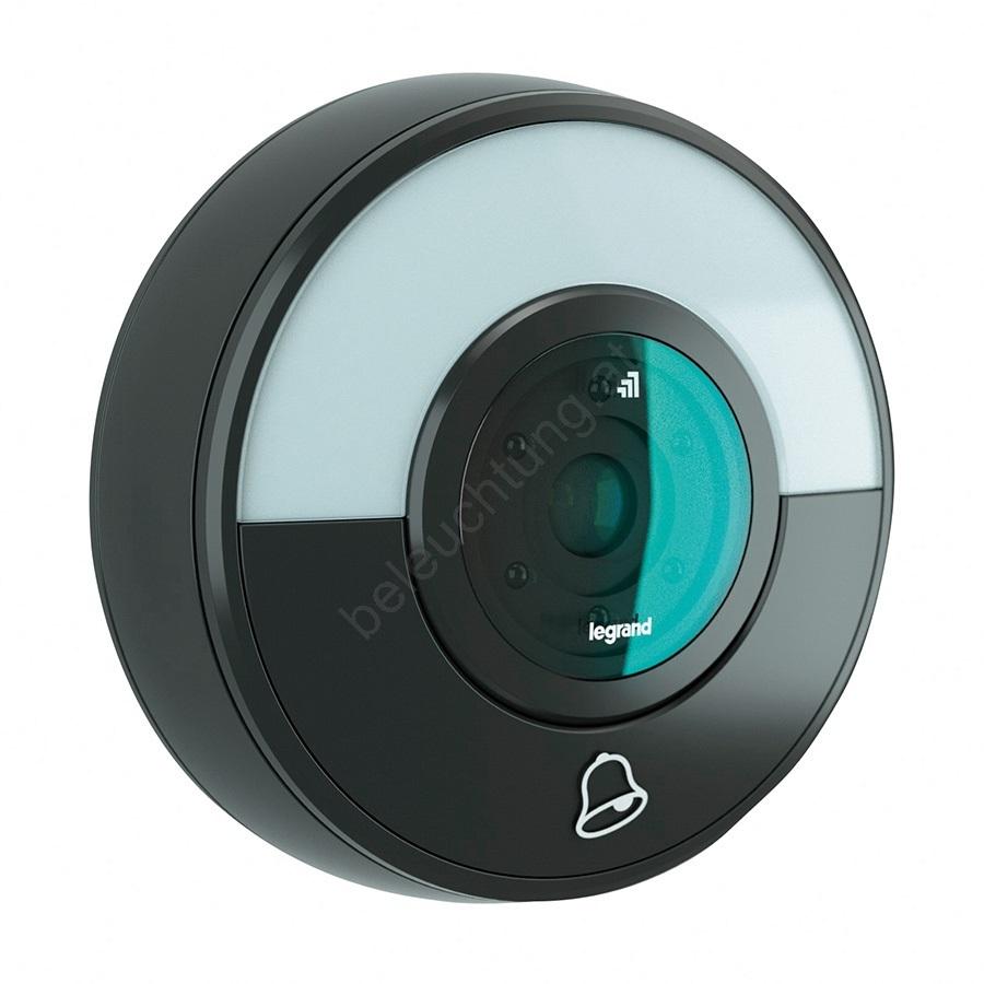 legrand 94231 kabellose klingel wifi kamera eliot schwarz beleuchtung. Black Bedroom Furniture Sets. Home Design Ideas