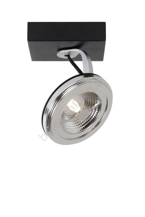 lucide 23955 21 30 led spotlight xentrix 1xg53 12w 230v schwarz beleuchtung. Black Bedroom Furniture Sets. Home Design Ideas