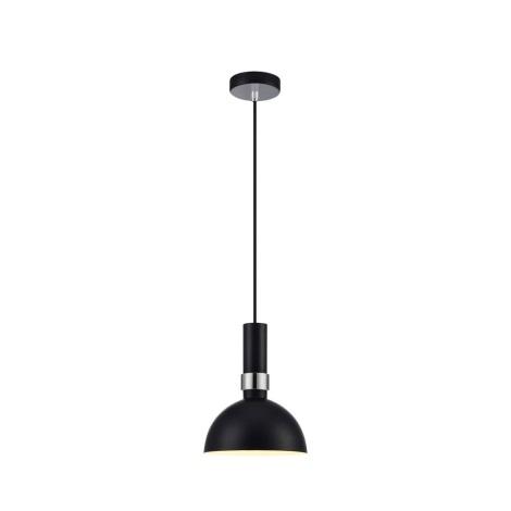 Markslöjd 106861 - Hängeleuchte LARRY 1xE27/60W/230V schwarz/chrom glänzend