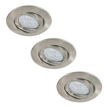 Paulmann 92026 - SET 3x LED Einbauleuchte QUALITY LINE 3xGU10-LED/3,5W