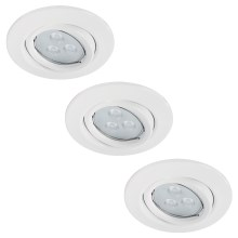 Paulmann 92027 - SET 3x LED Einbauleuchte QUALITY LINE 3xGU10-LED/3,5W