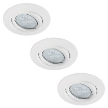 Paulmann 92029 - SET 3x LED Einbauleuchte QUALITY LINE 3xGU10-LED/6,5W