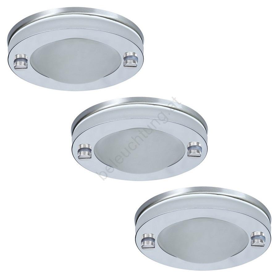 Badezimmer Leuchte | Paulmann 92536 Set 3x Dimmbare Badezimmerleuchte Deco 3xgu5 3 35w