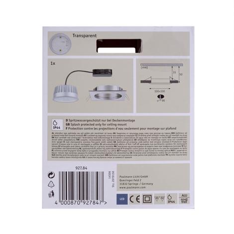 Paulmann 92784 LED14W IP44 Dimmbare Badezimmer Einbauleuchte 230V