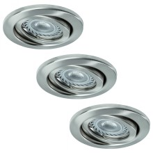 Paulmann - Nice Price 3322 - SET 3x LED Einbauleuchte 3xGU10-LED/3,5W/230V