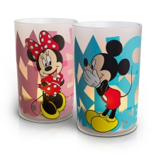 Philips 71712/55/16 - LED Tischleuchte CANDLES MICKEY & MINNIE 2xSET LED/0,125W