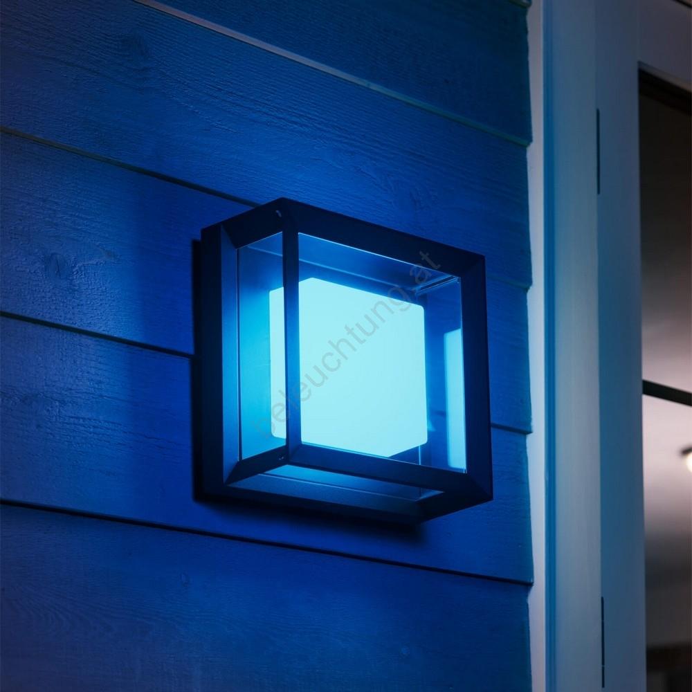Philips 1743830P7 LED RGB Außen Wandleuchte HUE ECONIC LED15W230V IP44