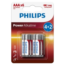 Philips LR03P6BP/10 - 6 Stk. alkalische Batterie AAA POWER ALKALINE 1,5V