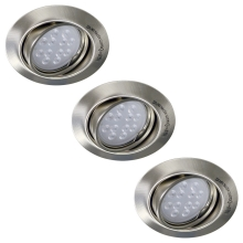 Philips Massive 59803/17/10 - SET 3x Spot LED Einbauleuchte OPAL 3xGU10/5,5W