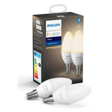 SET 2x LED Dimmbare Glühbirne Philips HUE WHITE E14/5,5W/230V 2700K