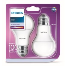 SET 2x LED Glühbirne Philips A60 E27/12,5W/230V