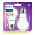 SET 2x LED Leuchtmittel Philips E27/13W/230V