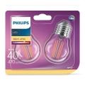 SET 2xLED Glühbirne VINTAGE E27/4W/230V 2700K - Philips