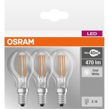 SET 3x LED Glühbirne BASE P40 E14/4W/230V 4000K – Osram