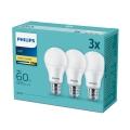 SET 3x LED Glühbirne Philips E27/9W/230V 2700K