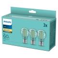 SET 3x LED Glühbirne VINTAGE Philips A60 E27/7W/230V 2700K