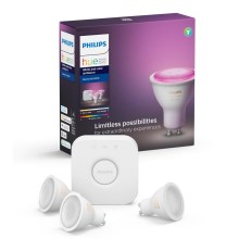 Startset Philips HUE WHITE AND COLOR AMBIANCE 3xGU10/5,7W/230V 2000-6500K