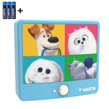 Varta 15642 - LED-Kinderwandleuchte mit Sensor THE SECRET LIFE OF PETS LED/3xAAA