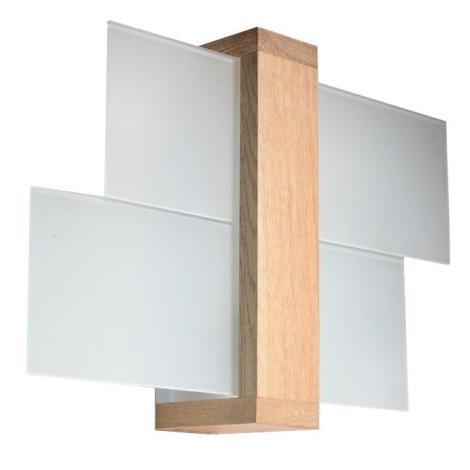 Wandbeleuchtung FENIKS 1 1xE27/60W/230V natürlich Holz