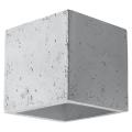 Wandbeleuchtung QUAD 1xG9/40W/230V beton
