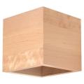 Wandbeleuchtung QUAD 1xG9/40W/230V Holz